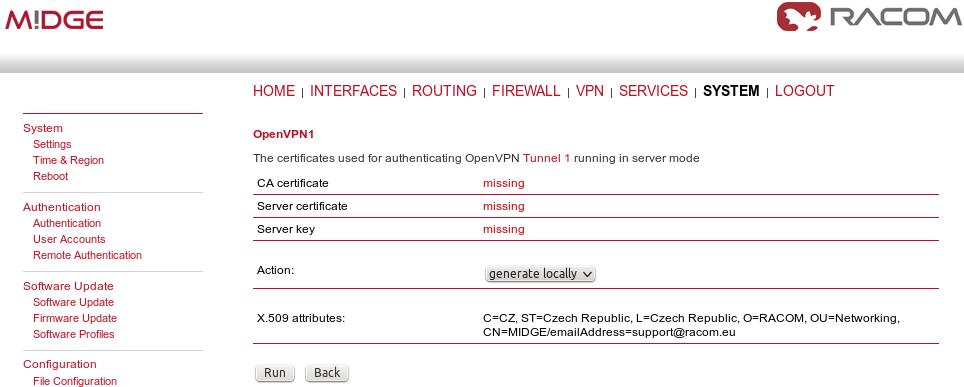 M!DGE/MG102i - VPN Configuration - 1  OpenVPN | RACOM