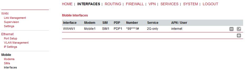 M!DGE2 GPRS/UMTS/HSPA+/LTE router - 7  Web Configuration | RACOM